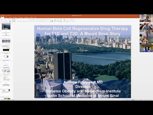 Human Beta Cell Regenerative Drug Therapy for T1D and T2D: A Mount Sinai Story