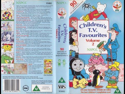 NSPCC Children's TV Favourites Volume 2 (1992 UK VHS)