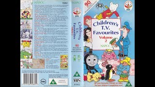 NSPCC Children's TV Favourites Volume 2 (1992 UK VHS)