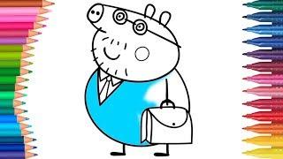 Peppa Pig - Świnka Peppa Z torbą | Małych Rączek Kolorowanka dla Dzieci