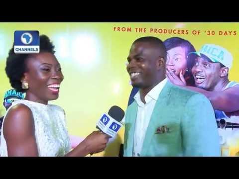 EN: Funke Akindele And Husband JJC Dazzle At 'A Trip To Jamaica' Premiere