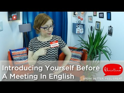 how to introduce yourself before a meeting in english business english lessons youtube. Black Bedroom Furniture Sets. Home Design Ideas