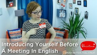 How To Introduce Youŗself Before A Meeting In English - Business English Lessons