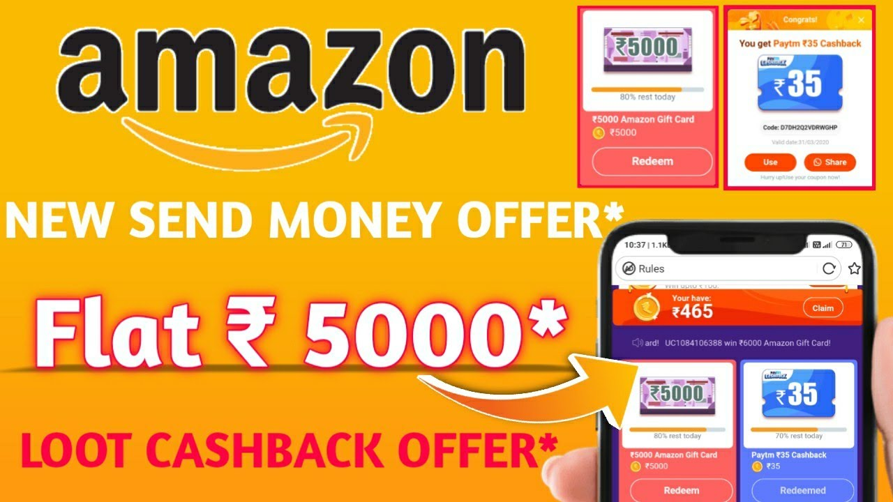 Amazon New Flat Rs.5000* Gift Card Voucher Cashback Offer l Uc Browser New March 2020 Offer