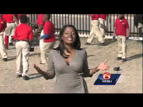Boy, 6, pushes for playground at Mildred Osborne Charter School