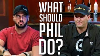 Hellmuth Tilts And AGONIZES Over This Tough River Decision