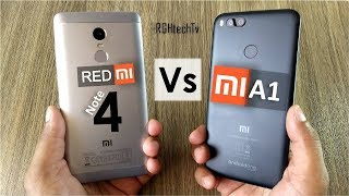 Mi A1 vs Redmi Note 4 | Battery, Gaming, Camera, Sound, Design & Build