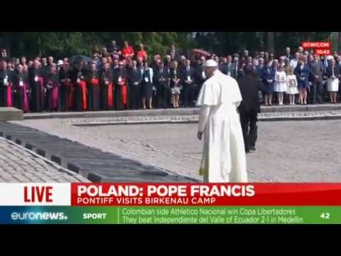 [Live footage] Pope Francis visits Auschwitz & Birkenau concentration camps, Poland