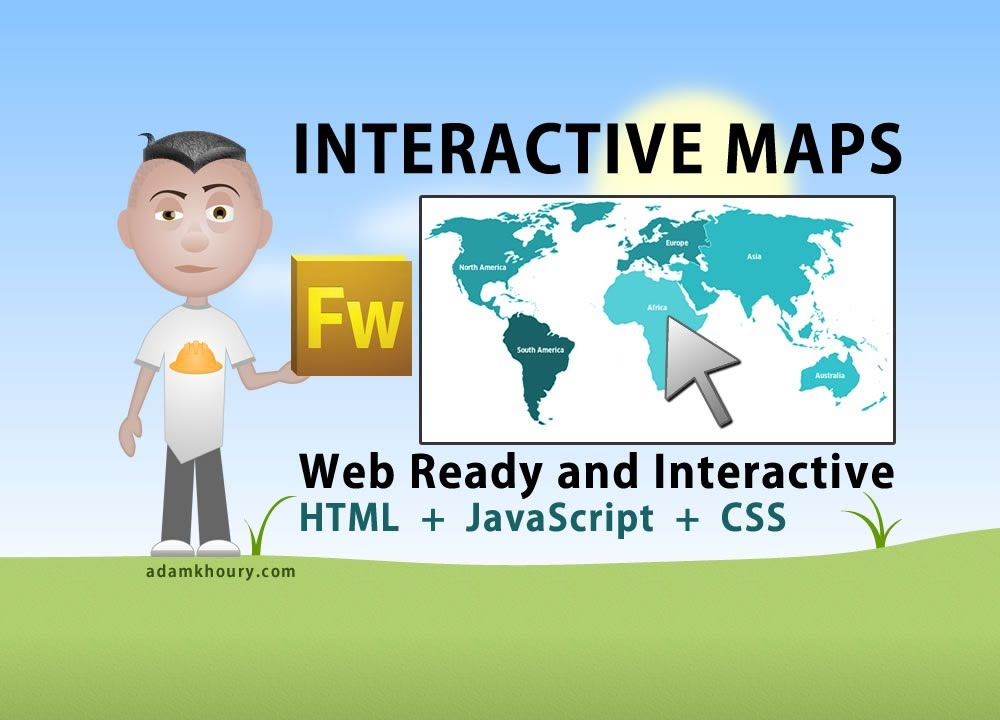 Interactive world map tutorial html javascript php fireworks interactive world map tutorial html javascript php fireworks continent country youtube gumiabroncs Image collections