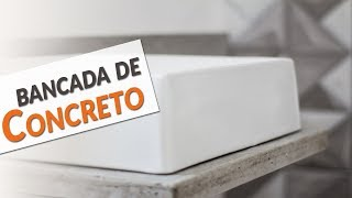 COMO FAZER UMA PIA DE CIMENTO - PARTE 01 - TRANSFORMAÇÃO DO LAVABO EP 01