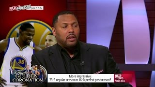 Golden State: 73-9 or a perfect postseason? Which feat is more impressive? | SPEAK FOR YOURSELF