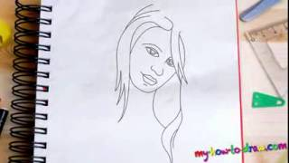 How to draw Women   Easy step by step drawing lessons for kids