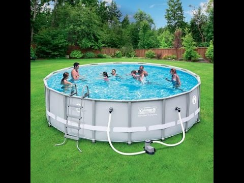 Coleman Power Steel 16 Foot Pool, How Easy Is It? - YouTube