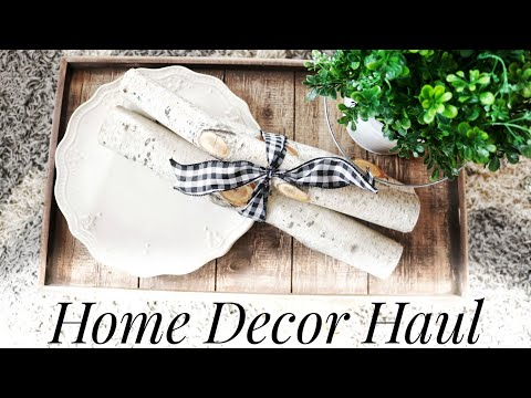 Home Decor Haul | New, Vintage + Thrift Store Finds | Rustics + Antiques