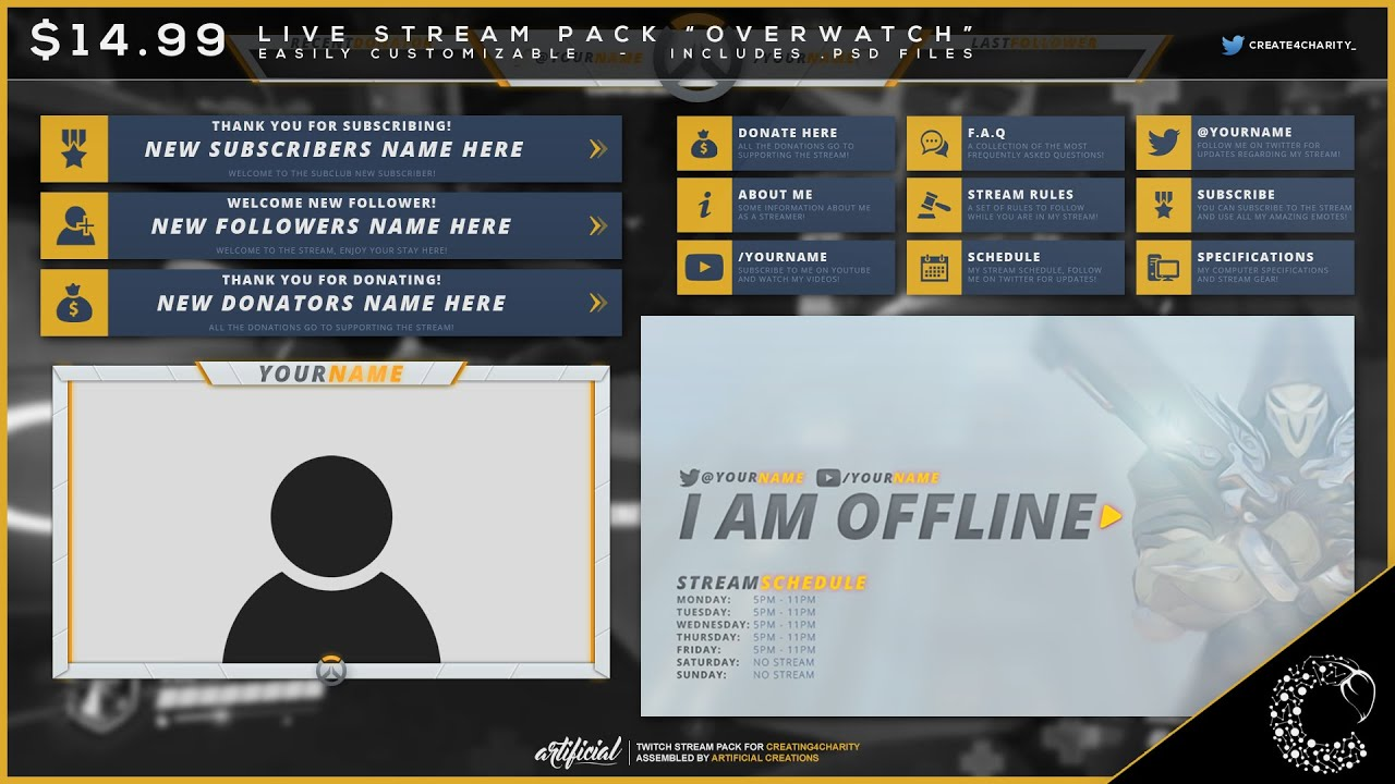 Promotion Pre Made Quot Overwatch Quot Livestream Pack By