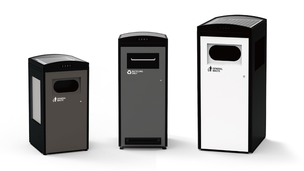 How Does A Trash Compactor Work Solar Powered Trash Compactor Bin Clean Cube Youtube