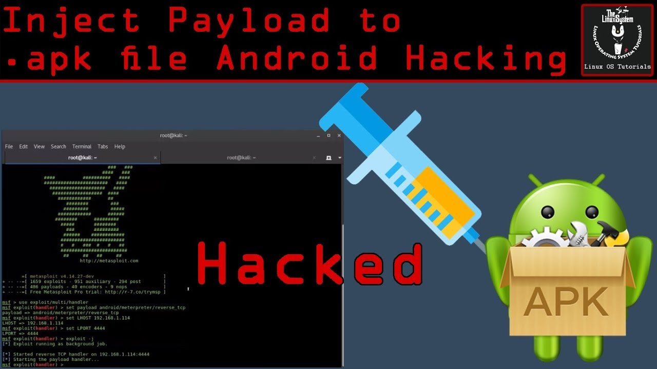 Android Pentest - Inject Payload to Any APK file [HD] ✔