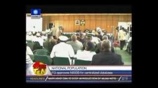 National Population:FG approves N600B for centralized database