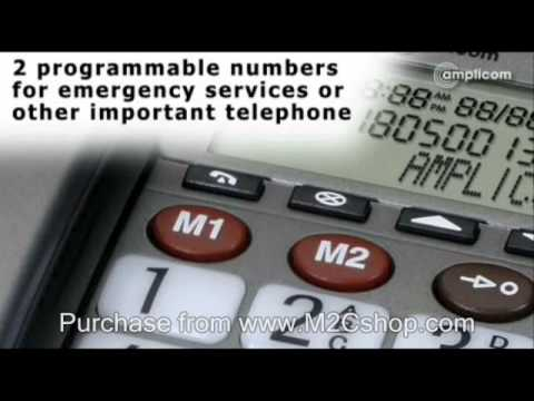 Amplicom PowerTel 49 Plus Big Button Amplified Telephone
