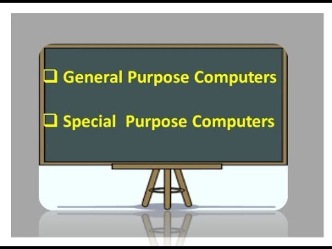 General purpose computer and Special purpose computers Lecture