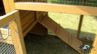 Montagu Large Deluxe Chicken Coop Rabbit Hutch Hen House Poultry Ark Nest