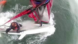 Blaze Dinghy Sailing Warsash Capsize x 3