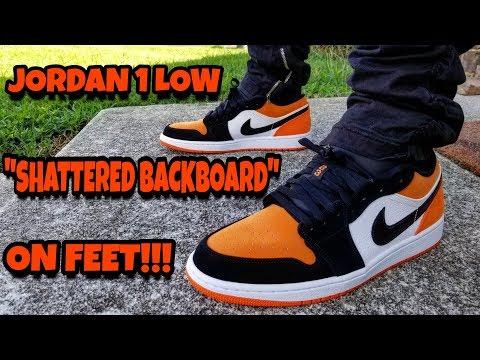 JORDAN 1 LOW SHATTERED BACKBOARD ON FEET REVIEW!!!