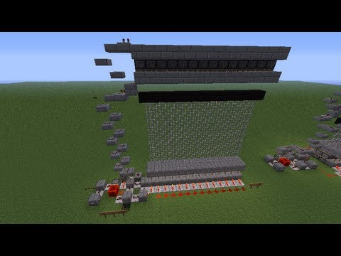 minecraft compact castle gate tutorial (no sand or gravel) [pc