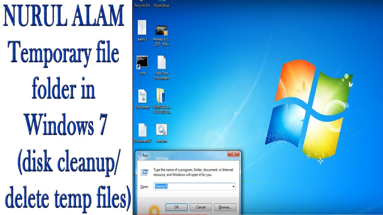 how to get to temp folder in windows 7