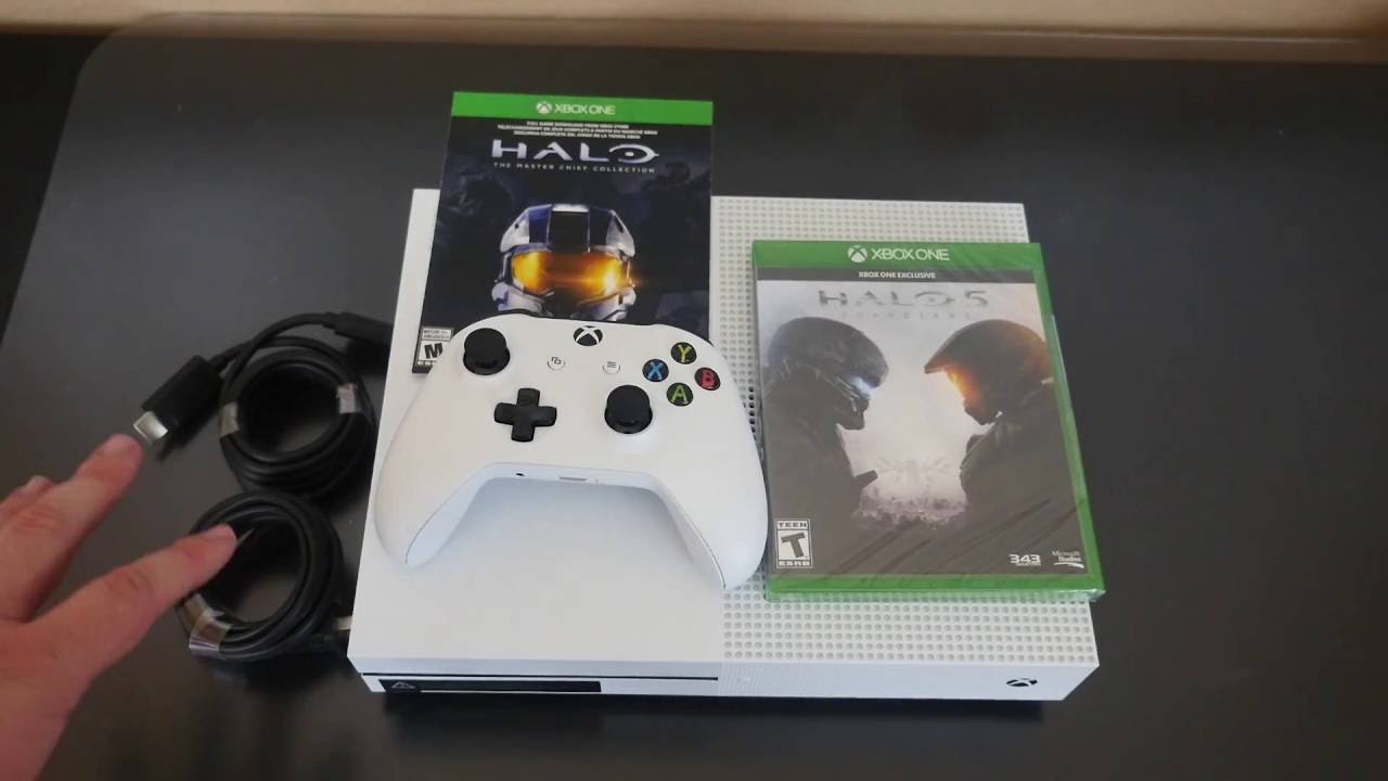 Xbox One S 500gb Unboxing Halo 5 Halo Master Chief Collection