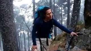 Selvin Uriel llegando al final del ascenso del Volcán Tacaná