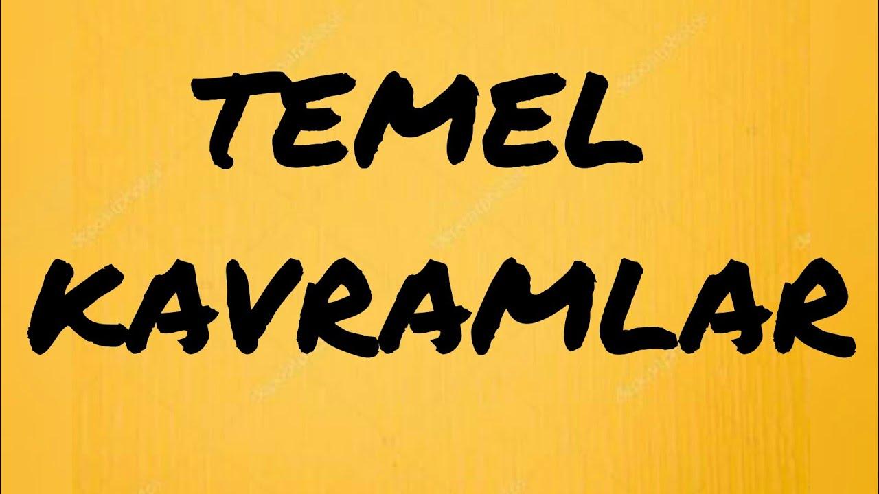 TEMEL KAVRAMLAR SORU ÇÖZÜMÜ #yks #tyt #ayt #kpss