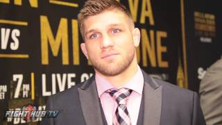 Brent Primus looks to beat Michael Chandler standing or definitely on the ground