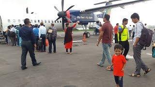 বিমানে যশোর থেকে ঢাকায় আসার পথে বিমান বালারা কি VIP খাবার দিলো দেখুন !! Jessore to  Dhaka Airport !!