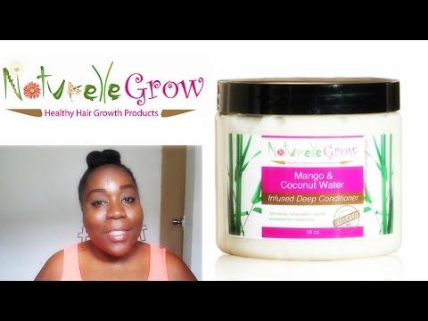 4c Hair Product Review: NaturelleGrow Coconut Water & Mango Deep Conditioner