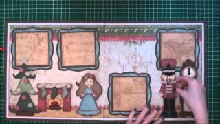 Faith Abigail Designs - Nutcracker Christmas Scrapbook Layout