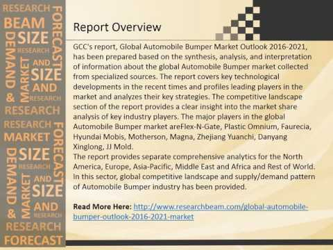 Latest Trends in Global Automobile Bumper Market 2016-2021 : Research Report
