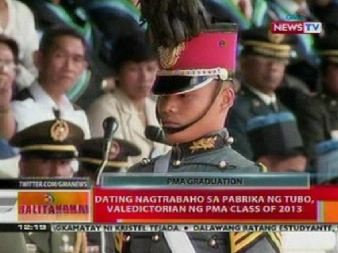 BT: Dating nagtabaho sa pabrika ng tubo, valedictorian ng PMA Class of 2013: Balitanghali is the daily noontime newscast of GMA News TV anchored by Raffy Tima and Pia Arcangel, on Saturday and Sundays by Jun Veneracion and Mariz Umali. It airs Mondays to Fridays at 11:30 AM and on weekends 12:00 PM (PHL Time). For more videos from Balitanghali, visit http://www.gmanetwork.com/balitanghali.
