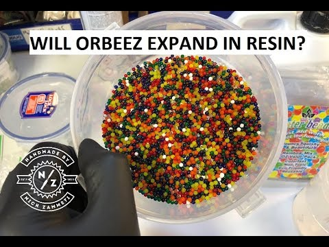 What happens to ORBEEZ when set in Resin ?