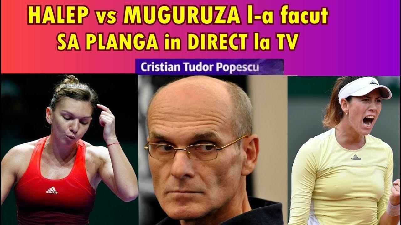 Simona Halep l-a facut sa planga in direct la TV pe CTP Cristian Tudor Popescu