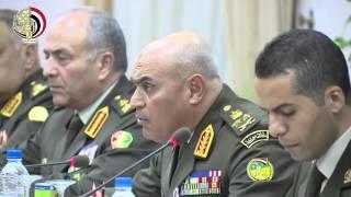 الفريق أول صدقى صبحى يستقبل وزير الدفاع الروسى
