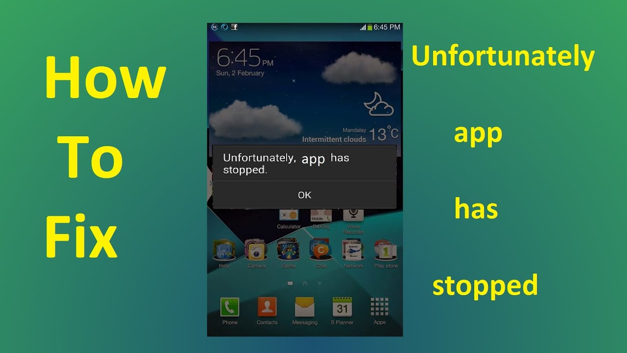 Unfortunately app has stopped!!! Fix - Howtosolveit