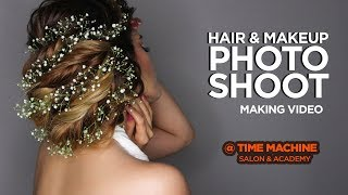 Glamorous Photoshoot at our Photo studio| Make up, hair and Photography|