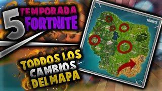 TODOS LOS CAMBIOS DEL MAPA DE LA TEMPORADA 5 DE FORTNITE 😱