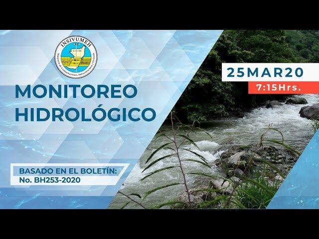 Monitoreo Hidrológico, miércoles 25-03-2020, 7:15 horas.