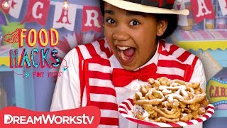 Home Made Carnival FUNnel Cake | FOOD HACKS FOR KIDS