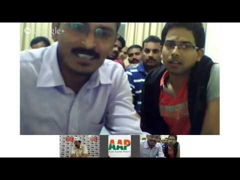 Arvind Kejriwal interacting with AAP UAE Supporters