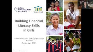GOA/Room to Read Virtual Discussion - Financial Literacy Skills