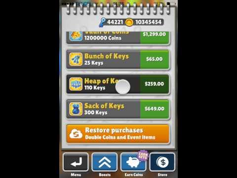 Hack de Subway Surfers para iphone,ipod y ipad Todas las versiones