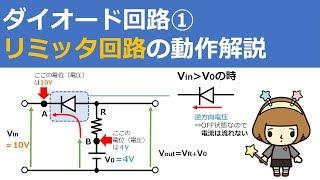 リミッタ回路【ダイオード回路①】